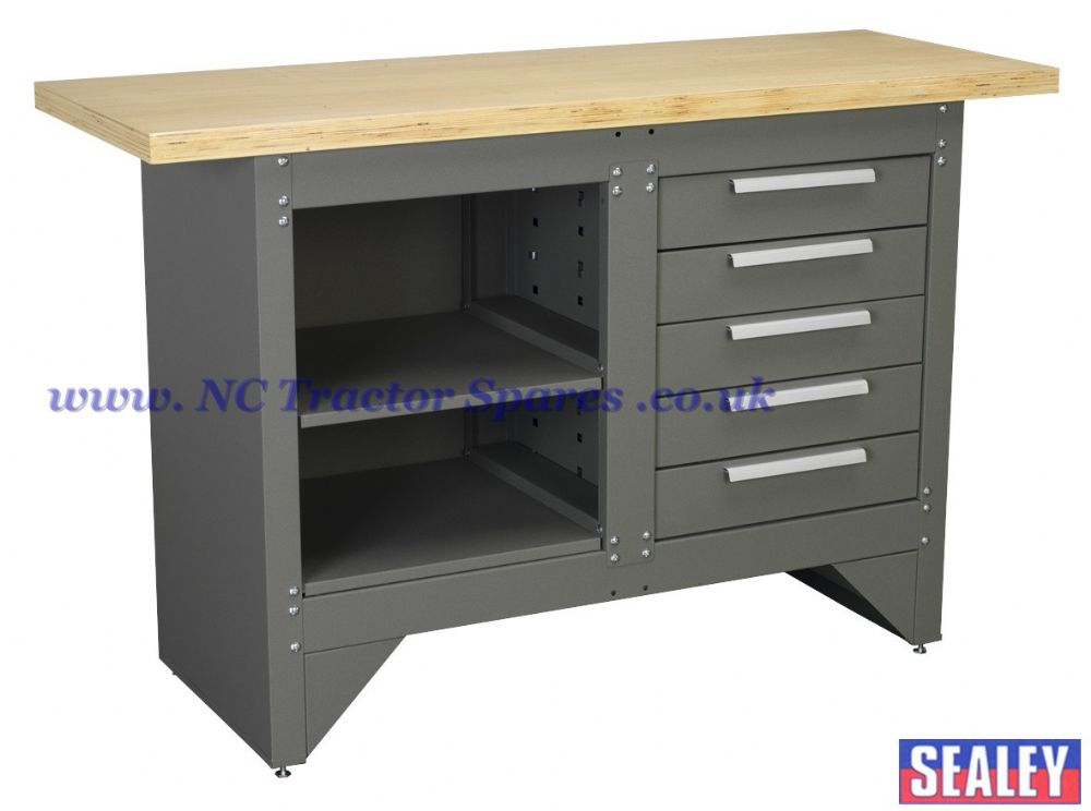 Workbench with 5 Drawers Ball Bearing Runners Heavy-Duty